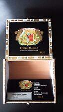 Empty Wood Cigar Box Romeo Y Julieta No. 4 Reserve Maduro Black