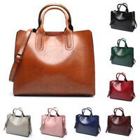 Womens Large Leather Handbag Shoulder Bags Tote Purse Messenger Hobo Satchel Bag