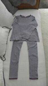⭐️ PETIT BATEAU Ringel Schlafanzug Pyjama GR 12A 152 blau weiß gestreift