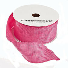 Hessian burlap jute Ribbon Candy Pink 2 inch wide x 10yd full roll