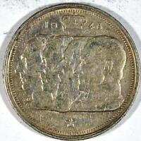 BELGICA 100 francos PLATA 1948 REYES BELGAS KM#138.2 leyenda en francés BELGIQUE