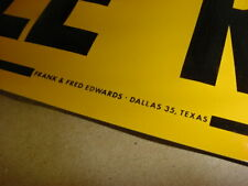 NEAR MINT ORIGINAL 50's era POSTED CATTLE RANCH Old Dallas Texas Emboss Tin Sign