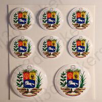 Pegatinas Venezuela Escudo de Armas Vinilo 3D Relieve Pegatina Venezuela Redonda