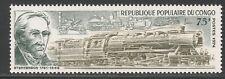 Congo #306 (A84) VF MNH - 1974 75fr G. Stephenson and Various Locomotives