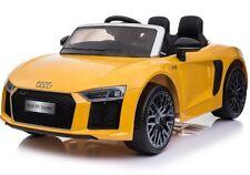 Neu Audi R8 Spyder, Eva Räder, Kinderauto Kinderfahrzeug Kinder Elektroauto gelb