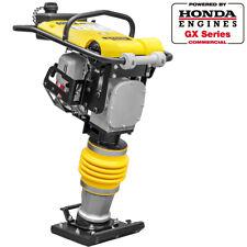 Impact Vibratory Rammer Jumping Plate Compactor 3hp Honda Motor 3350 Lbsft