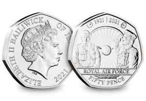 2021 RAFJERSEY Poppy 50p coin Royal British legion BU