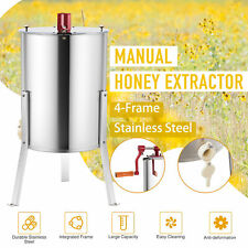 "4 Frame Manual Honey Extractor Beekeeping Honeycomb Drum 24"" 4/8 Frame Ss/"