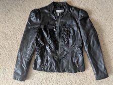839e3cc001320 Xhilaration black ladies WOMENS large faux leather zip up motorcycle jacket  coat