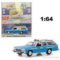 GREENLIGHT 42870C 1988 FORD LTD VICTORIA WAGON NYPD POLICE DIECAST CAR 1:64