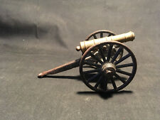 """Old Cast Iron Military Cannon Black Gold Tone 5"""" x 3 1/4"""""""