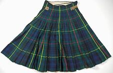 "Rare Vintage Donald Maclean Linens Limited Mens Green Tartan Plaid Kilt. 23""-26"""