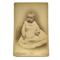 Antique Cabinet Card Photograph Sweet Beautiful Baby Freeport, Illinois Photo
