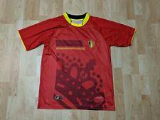 BELGIUM KBVB BURRDA SPORT FOOTBALL SOCCER SHIRT L JERSEY red #18 GUC
