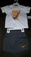 Nike Baby Boy Grey Shorts & White T Shirt Set Age 24 months New with tags