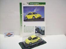 VW NEW BEETLE, 1997, giallo, DELPRADO 1:43, OVP