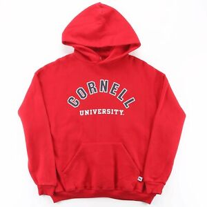 RUSSELL ATHLETIC Cornell University Red American Round Neck Hoodie Boys XL
