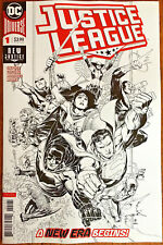 Justice League #1 Jim Cheung 1:100 Inks B/W sketch Variant Cover 2018 DC - NM