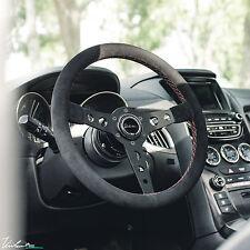 VIILANTE CORSA 350 STEERING WHEEL GENUINE SUEDE RED STITCH FITS VW GOLF GTI MK2
