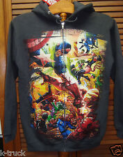 NWT -  Marvel Comics - Avengers - Gray -Zip-Up Hoodie- Size: Small