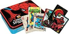 Amazing Spider-Man Tin Box Set of 2 Illustrated Playing Cards Decks, NEW SEALED