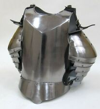 MEDIEVAL BREAST PLATE ARMOR W/SHOULDERS FLUTE ARMOR BREAST SUIT OF ARMOR LARP