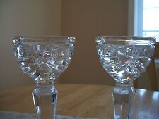 """WATERFORD SPARKLING PAIR OF CRYSTAL OVERTURE CANDLESTICKS CANDLE  HOLDERS 8"""""""