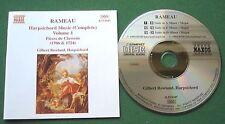 Rameau Harpsichord Music Complete Volume 1 Gilbert Rowland CD