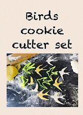 Aves Set Reino Unido vende plástico Bizcocho Masita Cortador Fondant Pastel Decoración Cupcake