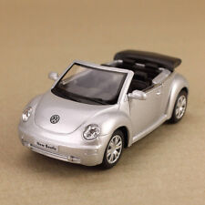 2003 Silver Volkswagen New Beetle Convertible 1:32 12.5cm Diecast Detailed Model