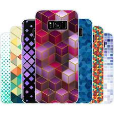 Dessana Geometric TPU Silicone Protective Cover Phone Case Cover For Samsung