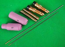 8 Pcs GOLD TIG Spares Kit WP-17.18.26 AC/DC 1.5% WL15 Bobthewelder OZZY Seller