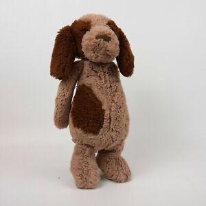 Jellycat of London 12 inch Bashful Brown Puppy Dog with Dark Spots