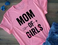 Mom Of Girls Tshirt Mothers Day Shirt Best Gift Mama T-shirt Blouse Women Tops