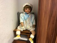 Amy Burgess Künstlerpuppe Porzellan Puppe 68 cm. Top Zustand