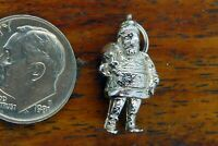 Vintage sterling silver CHRISTMAS SANTA CLAUS ST. NICK SACK PRESENTS SOLID charm