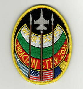 """USAF Patch 555th FIGHTER SQ, Aviano AB, Italy, Exercise THRACIAN STAR 2021, 4X3"""""""