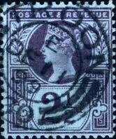 "GB - QV 1899/1900 ""TROON / 330"" code E cds on SG 201 2-1/2d purple on blue"