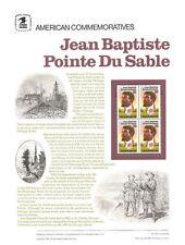 #277 22c Jean Baptiste Du Sable #2249 USPS Commemorative Stamp Panel
