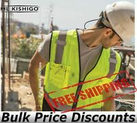 ML Kishigo Hi-Vis PPE Reflective Class 2 Black Bottom Vest 1509 up to 5XL
