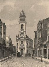 Pernambuco - Street view. Brazil 1885 old antique vintage print picture