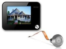 """Spioncino 3,5"""" 1MPixel salvataggio foto o video su uSD card digitale Silver301"""