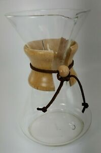 """CHEMEX PYREX GLASS POUR OVER COFFEE MAKER  9.5"""""""