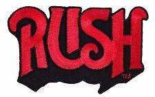 """Rush"" Band Name Logo Hard Rock Metal Music Merchandise Iron On Applique Patch"