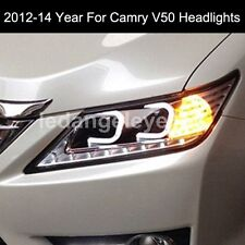 For Camry V50 Aurion LED C style Angel Eyes Front Lamps 2012 to 2014 year TLZ