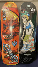 Powell Peralta Pro SIGNED Steve Caballero Flight Deck Set Of 2 Signed