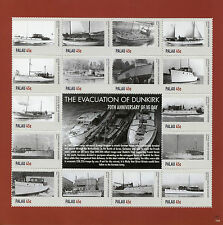 Palau 2015 MNH WWII WW2 VE Day Evacuation Dunkirk 16v M/S II Ships War Stamps