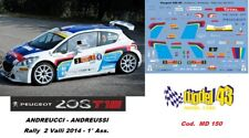 DECAL  1/43 -  PEUGEOT 208 R5  -  ANDREUCCI  - Rally  2  VALLI   2014