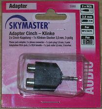 Skymaster - Adapter Cinch - Klinke 2 x RCA 3,5 mm MP3 - CD - PC - neu & ovp