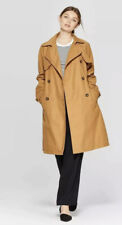 Women's Double Breasted Trench Coat - A New Day - Khaki - M - NWT